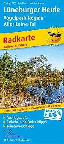 Lüneburger Heide - Vogelpark-Region, Aller-Leine-Tal: Radkarte mit Ausflugszielen, Einkehr- & Freizeittipps, wetterfest, reissfest, abwischbar. 1:100000 (Radkarte / RK)