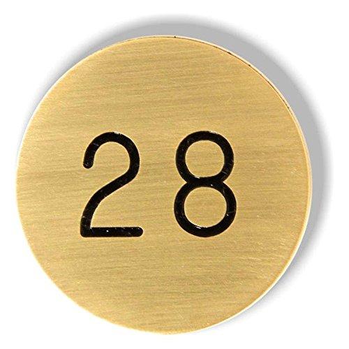 Pretty Maison Numeri della Tabella Ottone Solido con Auto Adesivo: Numeri 71-80