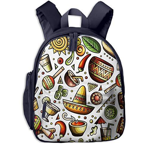 Kinderrucksack Amerikanische Hüte Babyrucksack Süßer Schultasche für Kinder 2-5 Jahre