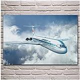 Posters Soviet Passenger Planes Aircraft Canvas Decor
