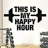 This is my Happy Hour Fitness Wall Decal Vinilo Etiqueta de la Pared Entrenamiento extraíble decoración de la casa 85X48cm