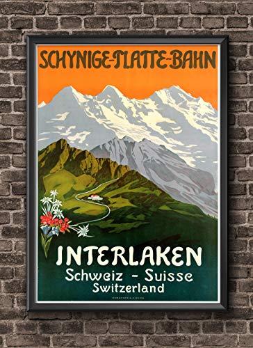 Poster Travel Swiss Vintage Art Switzerland Travel Poster - Switzerland Print Swiss Poster - Europe Travel Art - Switzerland Poster Travel Sign Decor