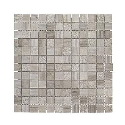 "75007 Desert Ridge Mosaic Tile, Marble, 12"" x 12"" x 8mm"
