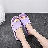 WENHUA Zapatillas Impermeables Unisex niños, Zapatos de Playa y Piscina Unisex Adulto, Verano de Mujer, baño seco, Sandalia, Purple_38-39