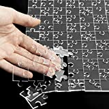 """WATINC 300Pcs Clear Jigsaw Puzzle Impossible Crystal Blank Acrylic Puzzles Difficult Hard Challenge Practically Brain Testing Game Puzzibility Brainteasing Fun Toy for Adults and Kids 17.8"""" x 13.3"""""""