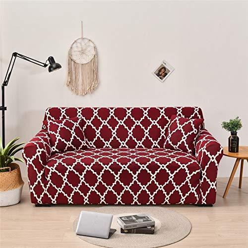 WXQY Funda de sofá elástica geométrica para Sala de Estar Funda de sofá de Esquina Moderna Funda Protectora antiincrustante para Silla de sofá A10 4 plazas