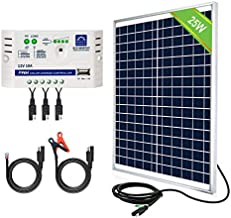 ECO-WORTHY 25 Watts 12V Off Grid Solar Panel SAE Connector Kit: Waterproof 25W Solar Panel + SAE Connection Cable +10A Charge Controller for Car RV Marine Boat 12 Volt Battery