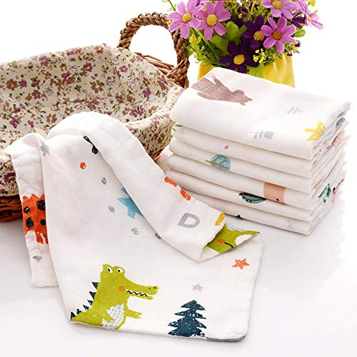 LASISZ 5Pcs100% Cotton Newborn Baby Towels Saliva Gauze Wash Face A of Cloth A Piece of Handkerchief Pure Wipe