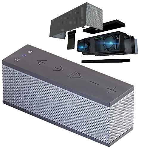 auvisio Speaker: Stereo-Lautsprecher mit Freisprecher, Bluetooth, microSD, 16W, IPX4 (Lautsprecher-Box)