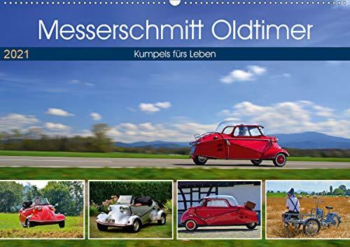 Messerschmitt Oldtimer - Kumpels fürs Leben (Wandkalender 2021 DIN A2 quer)