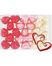 Caja de 24 perlas de aceite de baño fantasías - Corazones 3 perfumes