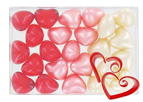 Caja 24 perlas aceite baño fantasías - Corazones