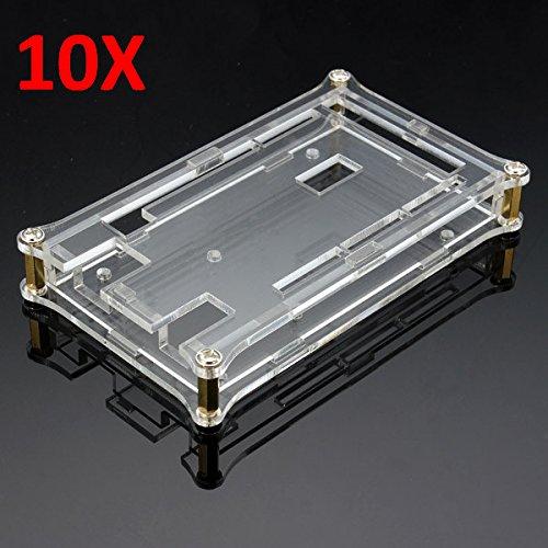 LaDicha Scatola di Guscio Acrilico Trasparente 10Pcs per Scheda di Arduino Mega2560 R3