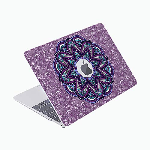 SDH Only Compatible Older MacBook Pro 13 Inch Case Model A1278 CD-ROM Early 2012-2008 Release, Plastic Pattern Hard Shell & Laptop Sleeve Bag & Gradient Keyboard Cover, Mantra 3