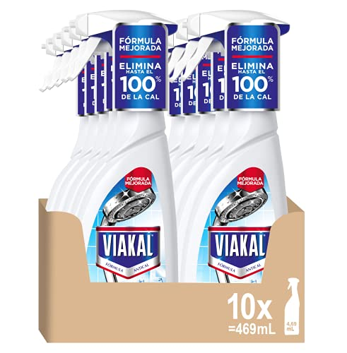 Viakal Limpiador Antical Spray para Cocina y Baño, 4.69 L (10 x 469 ml), Clásico, Mega Pack