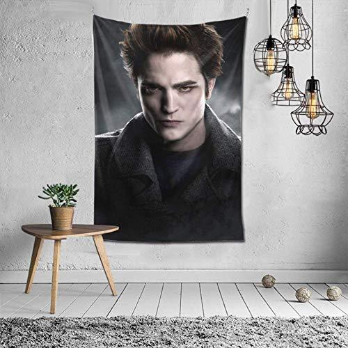 Edward Cullen - Tapiz para colgar en la pared, diseño de Robert Pattinson, arte de pared, dormitorio, decoración del hogar, 45,7 x 45,7 cm