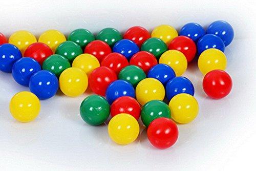 200 Bälle 8cm (Tüv geprüft und zertifiziert 2019) in Kindergarten & Gewerbequalität Babybälle Plastikbälle ohne gefähliche Weichmacher