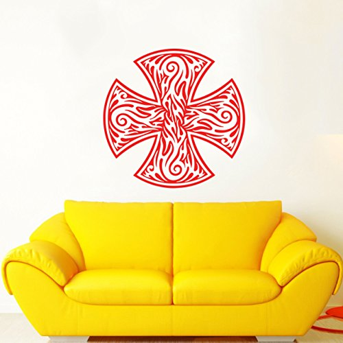 Celtic Cross Wall Decal Celtic Cross Decals Wall Vinyl Sticker Home Interior Wall Decor for Any Room Housewares Mural Design Graphic Bedroom Wall Decal Bathroom (5899)