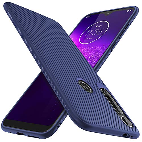 iBetter für Motorola G8 Play Hülle, für Motorola One Macro Hülle, Ultra Thin Silikon hülle Abdeckung Handy Hülle Stoßfest Hülle Handyhülle Schutzhülle passt für Motorola G8 Play Smartphone,Blau
