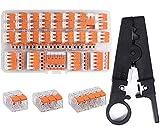 Kalolary - Set di connettori a leva, confezione da 75 pezzi, per cavi flessibili e massicc...