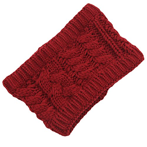 Les filles d'hiver tricoté bandeau tressé oreille plus chaud, Du vin