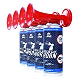 AAB Signal Gas Horn 400ml - 4 Pièces - Extraordinaire Corne de brume...