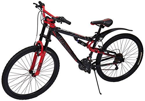 Mercurio 300335 Bicicleta Kaiser DH Rodada 26 con Doble Suspensión, Tamaño Grande, color Negro/Roj