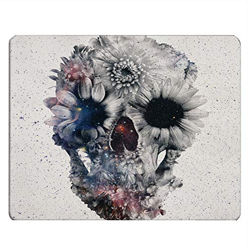 Nicokee Skulls Gaming Mousepad Beautiful Flower Sugar Skulls Mouse Pad Mouse Mat for Computer Desk Laptop Office 9.5 X 7.9 Inch Non-Slip Rubber