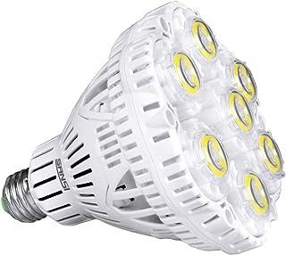 SANSI 40W LED Lampe 350W Entspricht, E27 auf E40 Kaltweiß 5000K Birne 5000LM Super helle led Glühbirne Arbeitsleuchte für ...