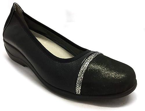 IWxez Botas de Moda para Mujer PU Marr/ón Poliuretano Botas de oto/ño Tac/ón Grueso Botines con Punta Cerrada//Botines Negro//Gris