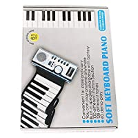 CLISPEED ロールアップピアノキーボード61キーハンドロールピアノ音楽キーボード電子ピアノ初心者ギフト用知育玩具