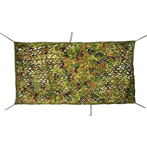 Tarnnet voor parasol, veelzijdig inzetbaar, camouflage-net, voor camping, van leer, met decoratieve lampenkap, camouflagennet, Oxford-stof (afmetingen: 5 x 6 m) zeil AI LI WEI 4x10m