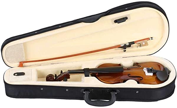 MuLuo 1 8 Acoustic Violin Solid Wood Fiddle Case Bow Rosin Kids Students Beginner Stringed Instrument