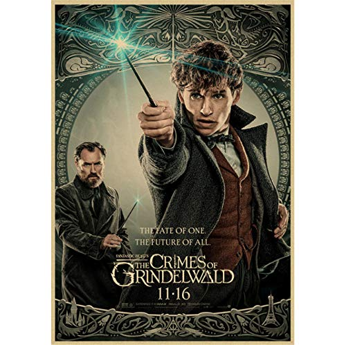 Fantastic Beasts And Where To Find Them Klassisches Filmposter Bar Cafe Wohnzimmer Dekoratives Poster rahmenloses Gemälde 40 x 50 cm (E0796)