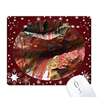 多色の石のテクスチャ、アートの図のパターン オフィス用雪ゴムマウスパッド