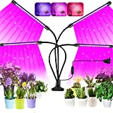 Grow Light for Indoor Plants, 2020 Upgraded 80 LEDs Full Spectrum Led Plant Grow Light, 4 Heads Grow Lamp with Timer 360°Adjustable Gooseneck for Seedling Growing Blooming Fruiting