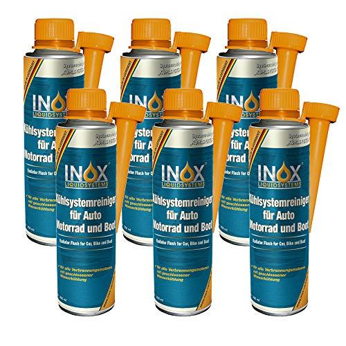 INOX® Additif nettoyant pour système de refroidissement, refroidisseur de protection pour voiture, moteur et bateau - 6 x 250 ml