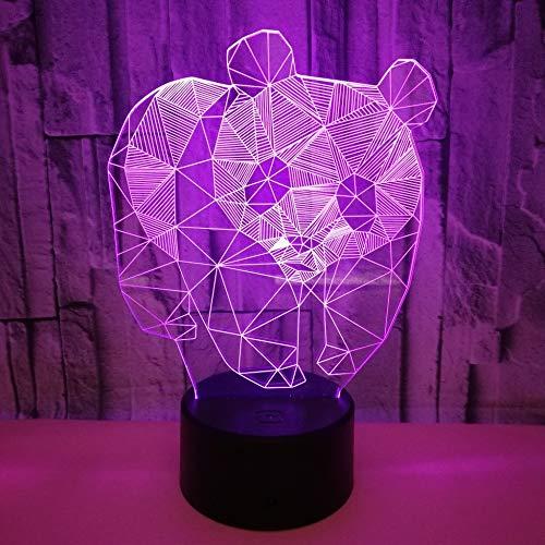 BFMBCHDJ New Panda Bunte Note 3D Nachtlicht 3D LED Stereo Vision Nachtlicht Weihnachtsgeschenk A3 Schwarz Basis + Fernbedienung