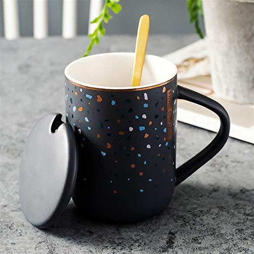 WLLL Koppen van de Koffie, Gorgeous Grote Steengoed Specialty Coffee mokken met Mocha Espresso Cappuccino Designs (Color : Gray, Size : 12.6CM*7.8CM)
