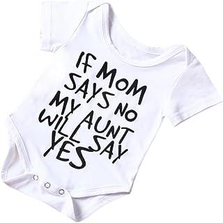 Hirolan Neugeborenes Strampler Kinder Outfit, Säugling Baby Walkoverall Junge Mädchen Baumwolle Spielanzug Overall Bodys Einteiler Sommerkleidung Schlafanzüge Coole babymode