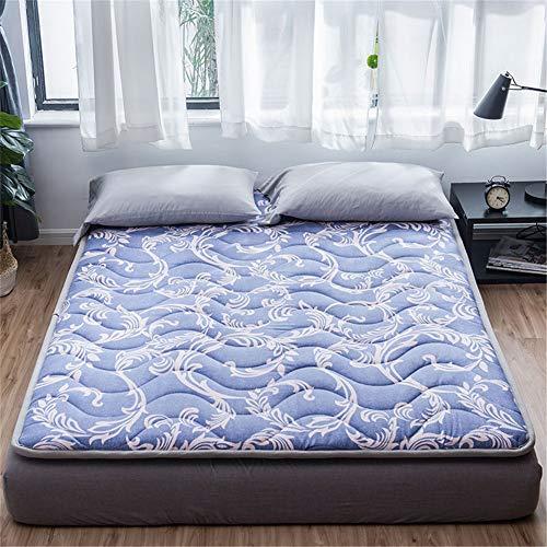 LYLJ katoen-satami-matras, dik, opvouwbaar, voor matras, thuis, slaapkamer, futonmatras, 120 × 200 cm, ademend, antislip, matras