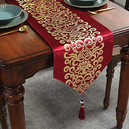 Caflife Table Runners 13 x 60 inch for Wedding Banquet Party Christmas Holiday Decoration for product image