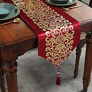 Caflife Table Runners 13 x 72 inch for Wedding Banquet Party Christmas Holiday Decoration,for Coffee Table Dresser and Din...