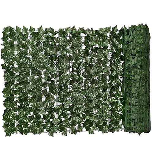 Kacniohen Privacidad Pared de Cobertura, Artificial Hedge-0.5x3m, Verde Hoja Faux Ivy Valla de privacidad Falso Muro de la Planta contexto de la Hierba Decorativo para el Exterior Balcón Jardín