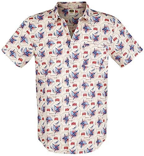 Batman Jump Hombre Camisa Manga Corta Multicolor L, 100% algodón, Regular