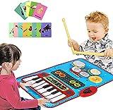 Alfombrilla De Piano, Alfombrillas De Música 2 En 1 Con Sonidos De Piano Y Batería, Juguetes Educativos Musicales Para Niños