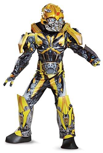 Disguise Bumblebee Movie Prestige Costume, Yellow, Medium (7-8)