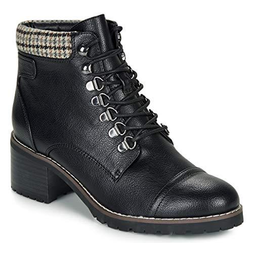 ANDRÉ EIGER Enkellaarzen/Low boots dames Zwart/Lak Laarzen