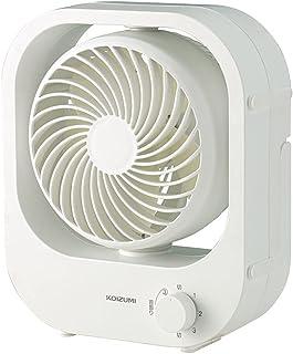 コイズミ 卓上扇風機 ボックス型 USB 給電式 風量3段階 自動首振り 縦置き 横置き ホワイト KLF-1116/W