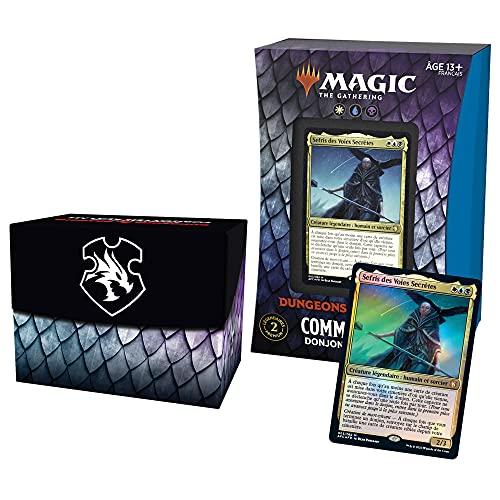 Magic: The Gathering- Deck Commander Forgotten Realms : Aventures dans Les Royaumes Oubliés – Donjons mortels (Blanc-Bleu-Noir)